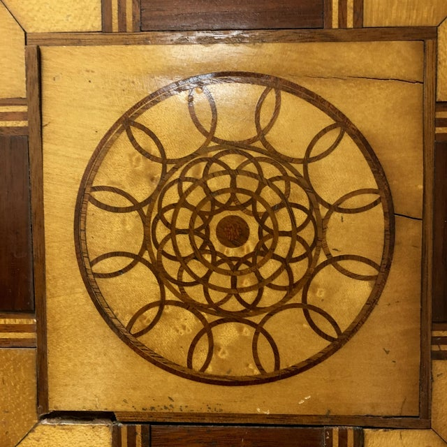 Antique 19th C. Inlaid Wooden Game Board - Image 5 of 9