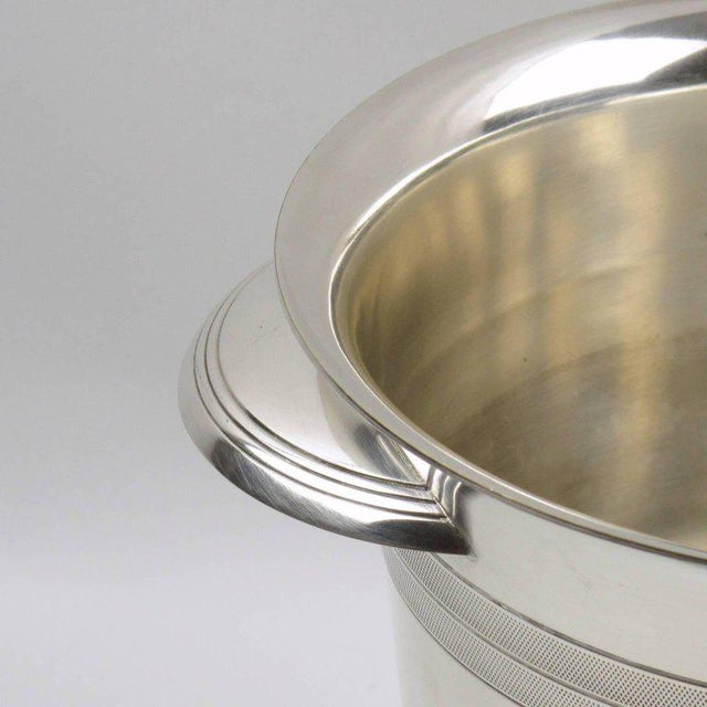 French Art Deco Modernist Silver Plate Champagne Bucket, Wine Cooler - Image 4 of 7