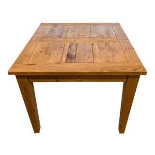 Contemporary Scandinavian Restoration Hardware Dining Table For Sale