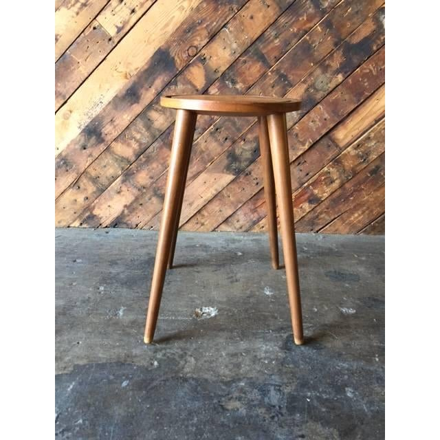 Mid-Century Danish Plant Stand Side Table - Image 4 of 4