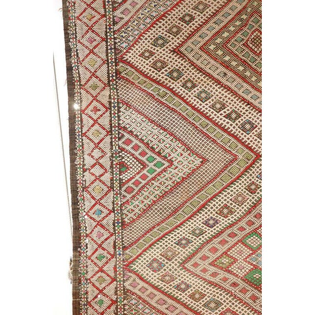 Abstract Vintage Zaiane Moroccan Tribal Runner Rug, Circa 1960 For Sale - Image 3 of 7