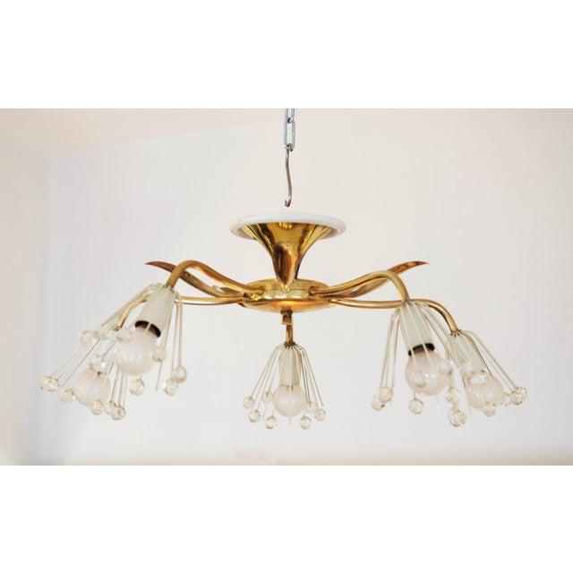 Rupert Nikoll Mid-Century Brass Chandelier by Emil Stejnar for Rupert Nikoll For Sale - Image 4 of 7