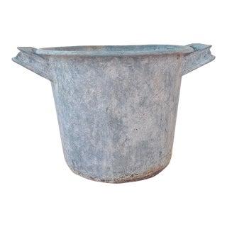 1930s Industrial Zinc Farm Bucket