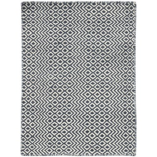 Bella Modern Charcoal Hand-Woven Rug 5'x8' For Sale