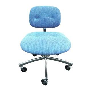 Steelcase Modern Blue Swivel Office Chair For Sale