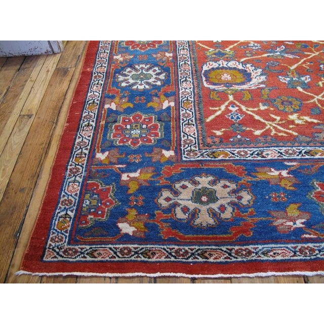 Islamic Fantastic Antique Sultanabad Carpet For Sale - Image 3 of 10