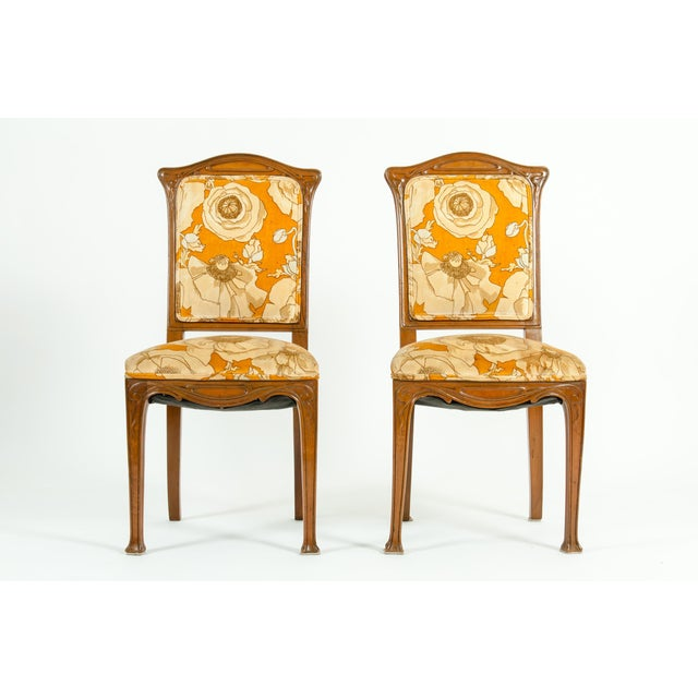 French Vintage Louis Majorelle Side Chair - a Pair For Sale - Image 3 of 13