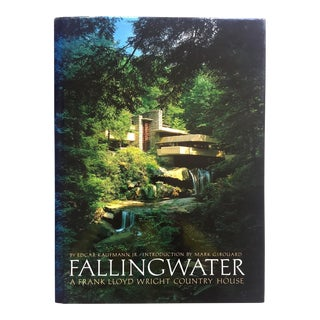 """ Fallingwater - a Frank Lloyd Wright Country House "" Rare Vtg 1986 1st Edtn Modernism Architecture Large Hardcover Book For Sale"
