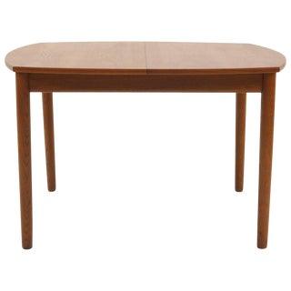 Square Expanding Danish Modern Teak Dining Table by Ejner Larsen & Aksel Madsen For Sale