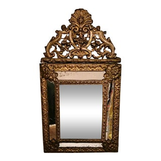 Napoleon III Wall Mirror With Brass Inserts For Sale
