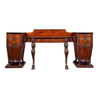 Regency Mahogany Pedestal Sideboard For Sale