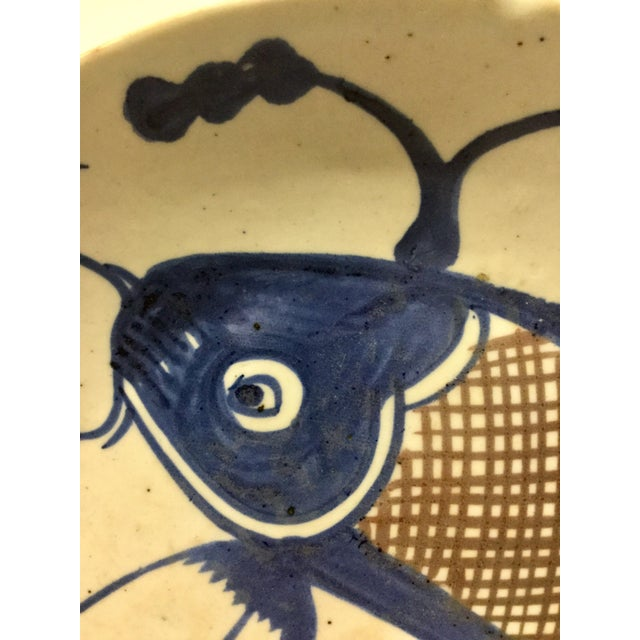 Mid 20th Century 1800's Japanese Porcelain Fish Decorated Bowl For Sale - Image 5 of 13