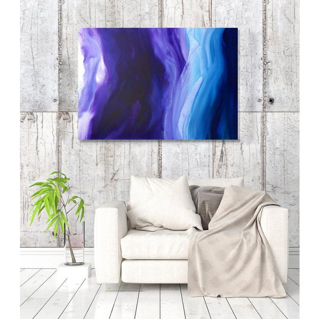 Abstract Teodora Guererra, 'Lavender Sky' Painting, 2017 For Sale - Image 3 of 7