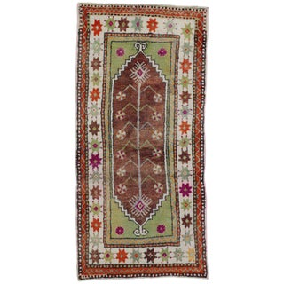 20th Century Turkish Oushak Rug - 2′4″ × 4′10″ For Sale