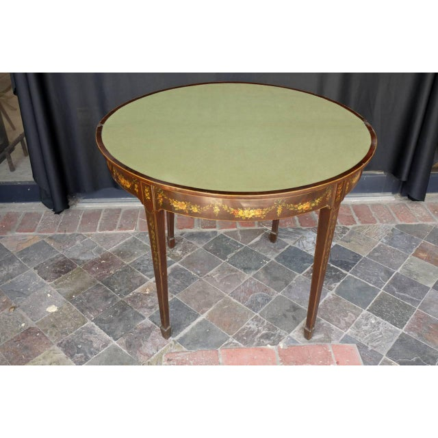 George III Paint Decorated Demilune Game Table, circa 1780 For Sale In Richmond - Image 6 of 8