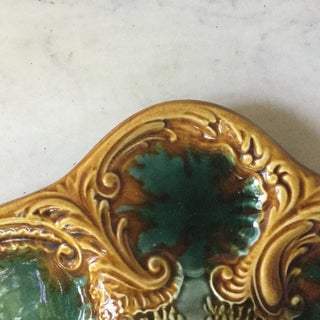 1900s French Majolica Oyster Plate Preview