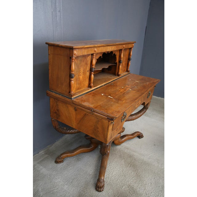 Traditional 800 Desk Cabinet in Rosewood Inlaid Wood. For Sale - Image 3 of 11