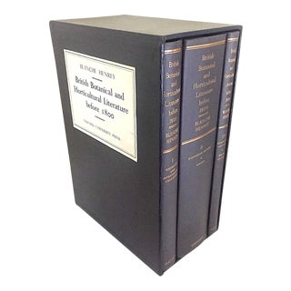 1970s Richard Blanche's British Botanical and Horticultural Literature - 3 Book Slipcase Set For Sale