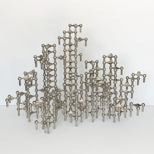 1960s Modular Candlestick Sculpture by Fritz Nagel and Caesar Stoffi - Set of 100 Pieces For Sale - Image 5 of 11