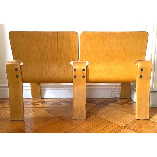 1960s Italian Modern Double Seat Bench For Sale - Image 4 of 11