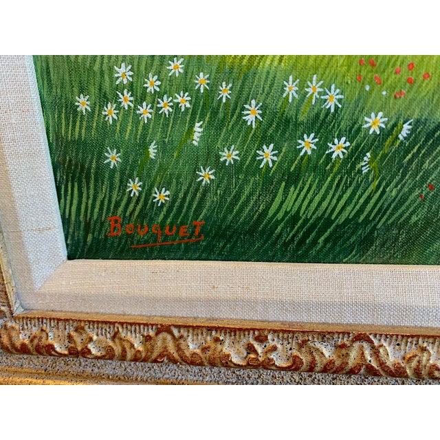 """1970s Andre Bouquet Painting """"Village De l'Ite Au France"""" For Sale - Image 4 of 11"""