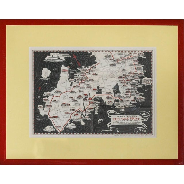 Ten Mile Drive, 1939 Map For Sale