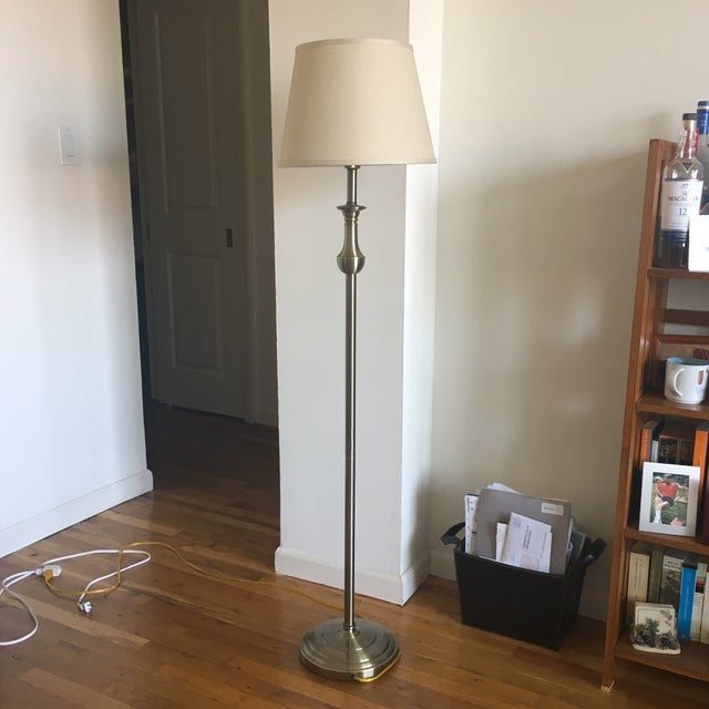 This classic polished brass Kaeder floor lamp is perfect for a traditional home. In the seller's family for several...