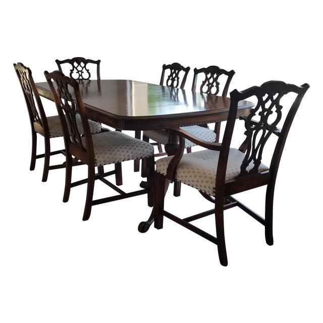 Antique Bernhardt Dining Set For Sale - Image 9 of 9