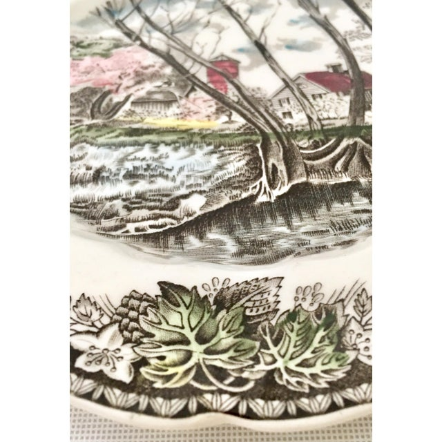 """1950's Johnson Brothers English """"Friendly Village"""" Dinnerware - Set of 17 For Sale - Image 9 of 13"""