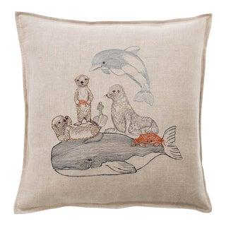 Contemporary Linen Dive Pillow