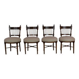 Set of 4 Round Seat Chairs For Sale