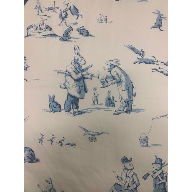 Custom Brunschwig & Fils Fabric Skirted Vanity Table For Sale - Image 9 of 12
