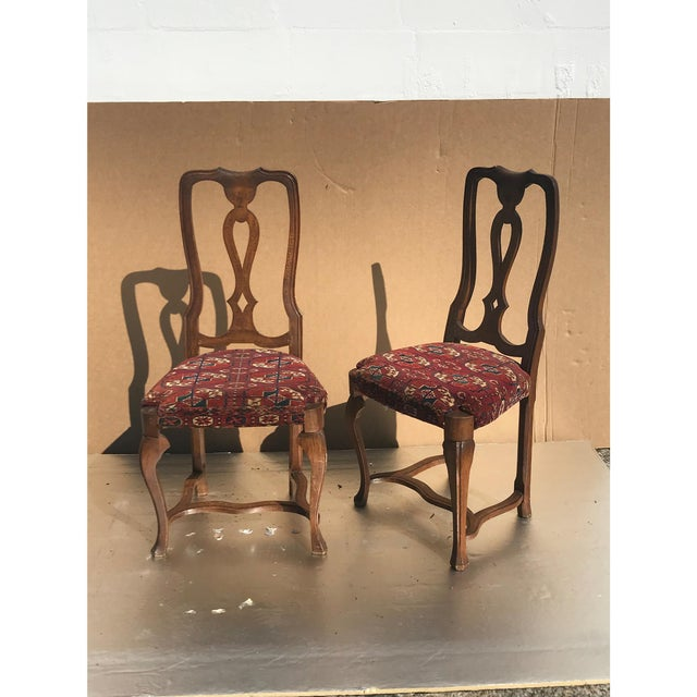 Pair of Queen Anne Style Walnut Chairs.