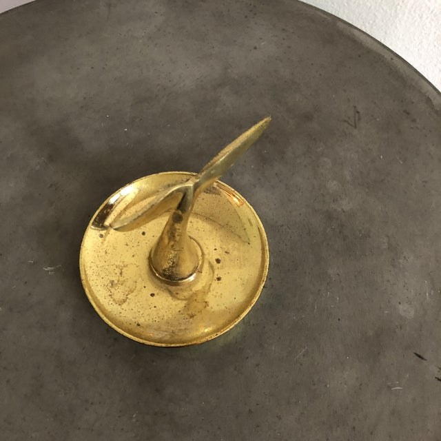 1960s Vintage Brass Whale Tail Catchall Dish For Sale - Image 5 of 8