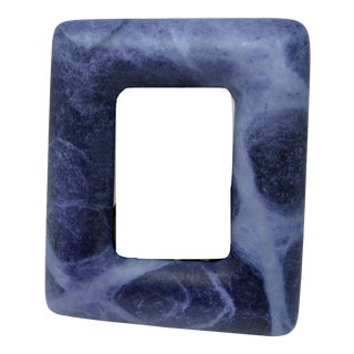 Italian Alabaster Navy Blue Photo and Picture Frame For Sale