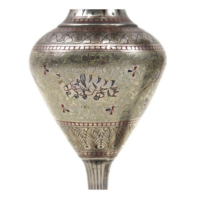 1930s Bohemian Metal Inlaid Vase Set - A Pair - Image 4 of 6