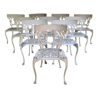 1950s Vintage Custom Made Molla Chairs- Set of 10 For Sale