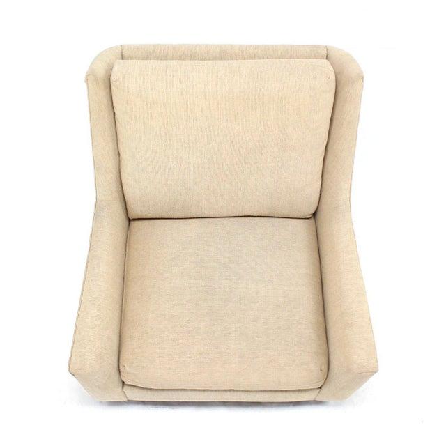 Harvey Probber Large Lounge Chair on Walnut Frame Base by Harvey Probber For Sale - Image 4 of 6