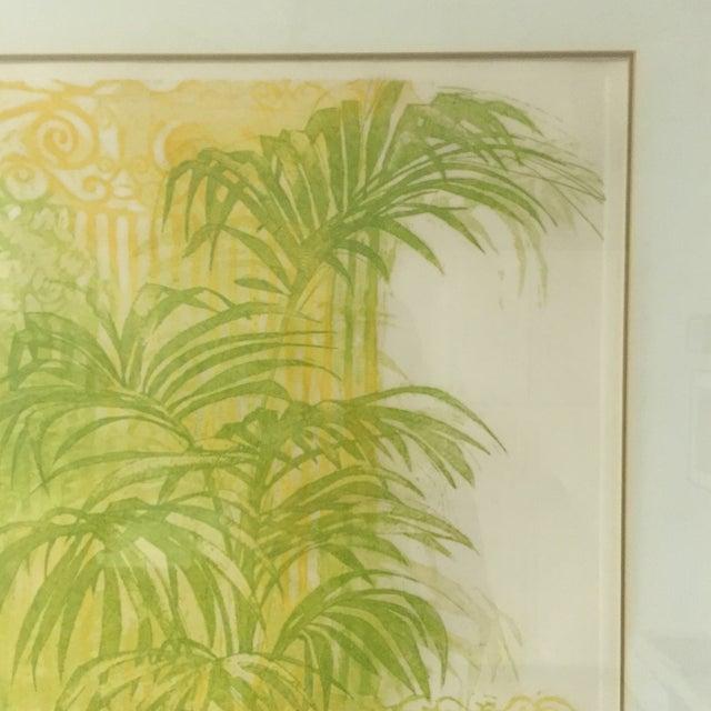 """Floridian Gates"" Framed Intaglio Etching - Image 7 of 10"