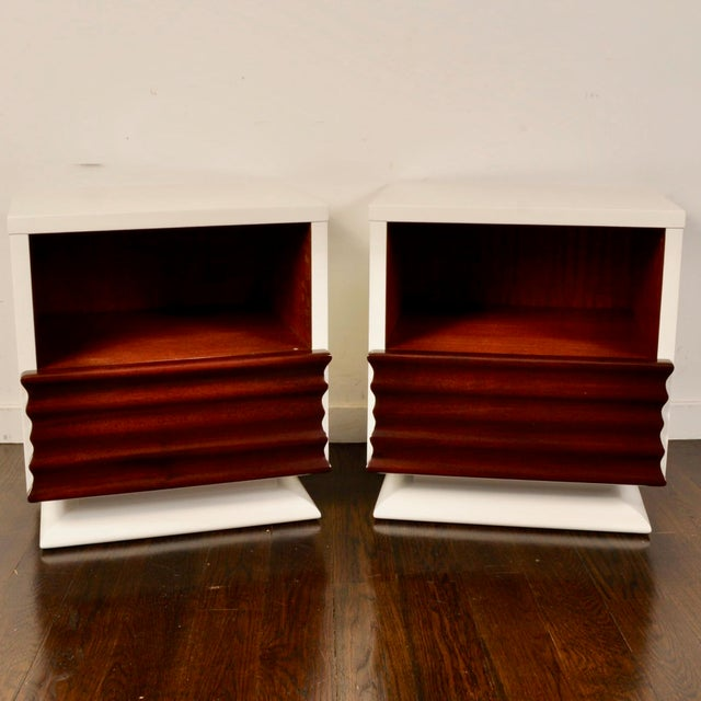 Mid Century Lacquered Nightstands by Vanleigh Furniture For Sale - Image 12 of 12