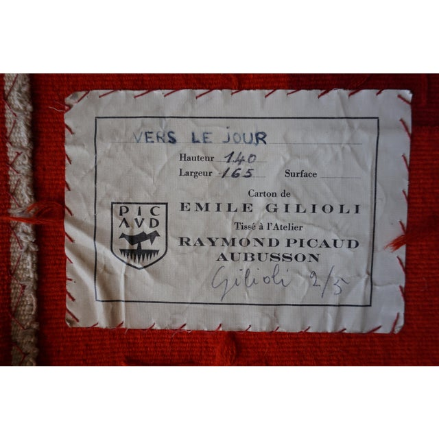 "Handwoven Modern Tapestry by Émile Gilioli - ""Vers Le Jour"" For Sale - Image 4 of 5"