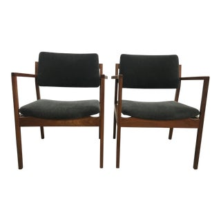 Late 20th Century Vintage Mohair Danish Chairs- A Pair For Sale