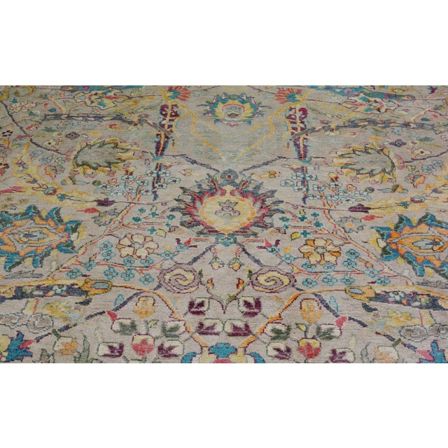 """Shabby Chic Vintage Turkish Hand Woven Oushak Rug With Allover Design and Silky Soft Texture,9'7""""x13' For Sale - Image 3 of 7"""