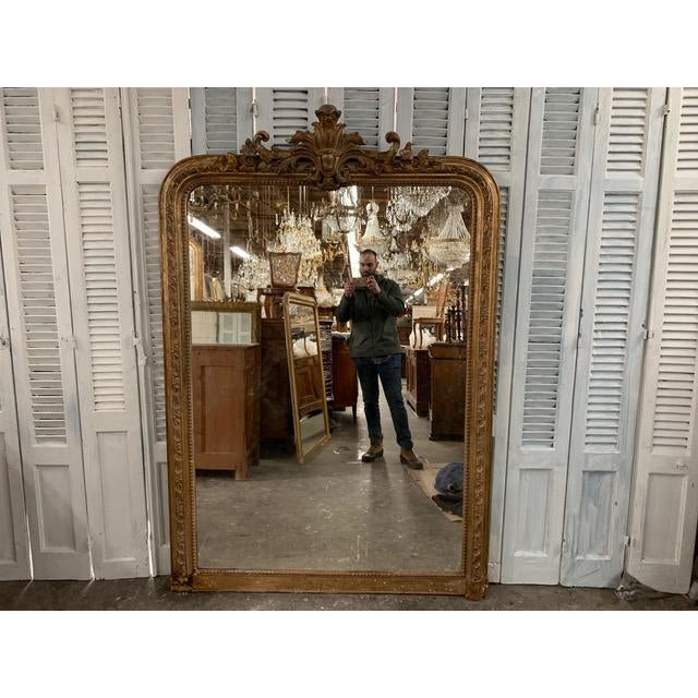 Gold 18th Century Grand Louis Philippe Mirror For Sale - Image 8 of 8