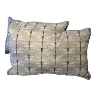 Dragonflies Bolster Pillows - A Pair For Sale