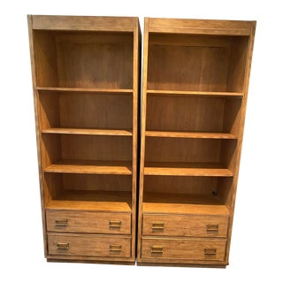 Drexel Heritage Cross Country Collection Shelf Units - A Pair For Sale
