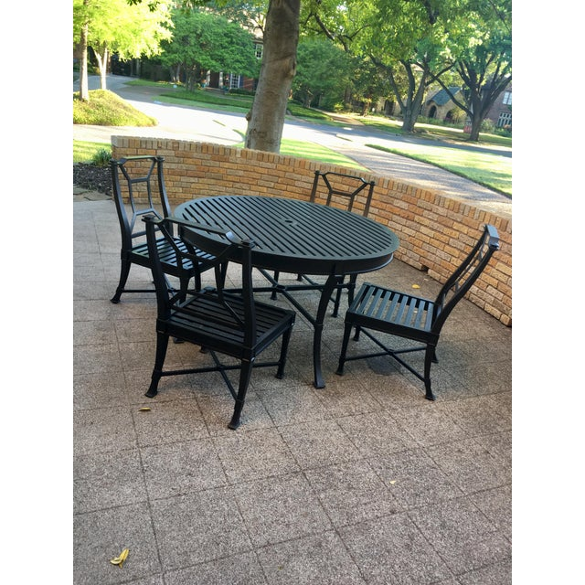 Contemporary Restoration Hardware Antibes Collection Outdoor Dining Set - 5  Pieces