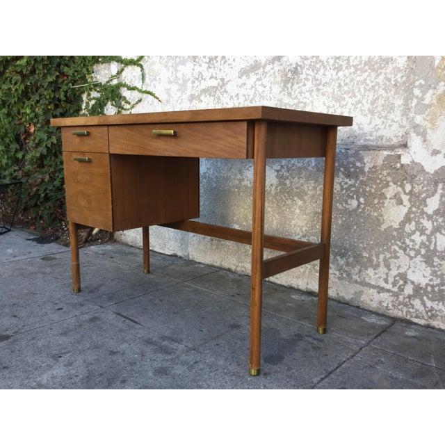 Vintage Mid-Century Walnut Desk - Image 4 of 6