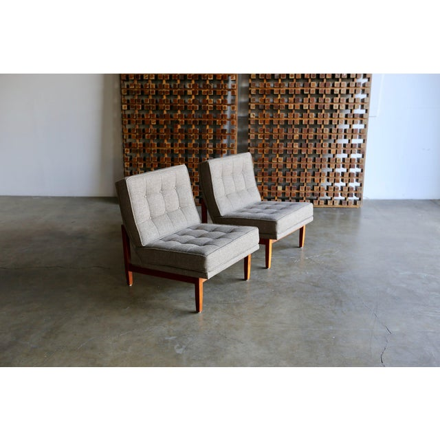Mid Century Florence Knoll Slipper Lounge Chairs - a Pair For Sale - Image 11 of 12