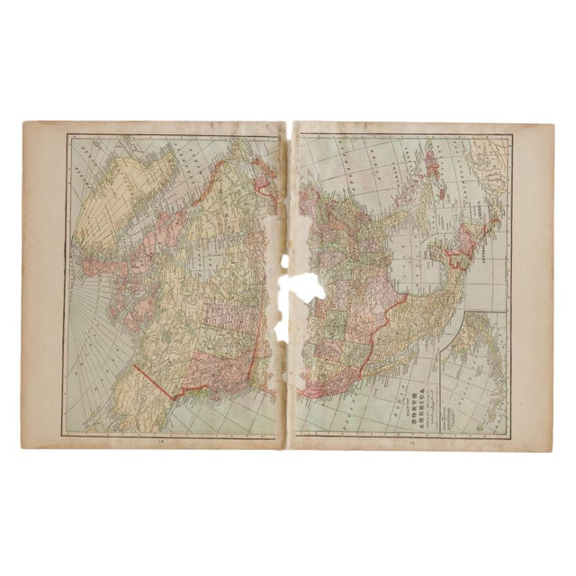 Cram's 1907 Map of North America For Sale - Image 9 of 9